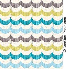 seamless, onda oceano, padrão