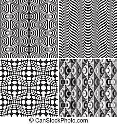 Seamless Op Art Background Pattern, editable vector illustration