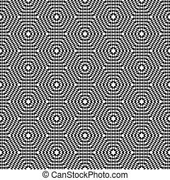 Seamless op art texture. - Hexagons texture. Seamless op art...