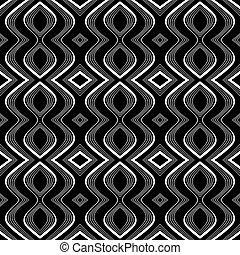 Seamless op art texture. Undulation illusion. Vector art.