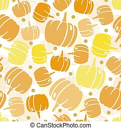 seamless orange glitter pumpkin with gold dot glitter pattern on white background