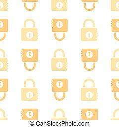 seamless orange masterkey pattern background