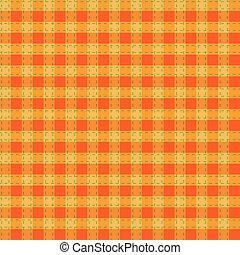 Seamless orange-yellow-green checkered pattern
