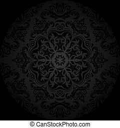 Seamless Orient Vector Background - Pattern in the style of...
