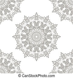Seamless Oriental Vector Silver Background