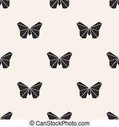 seamless origami butterfly pattern background