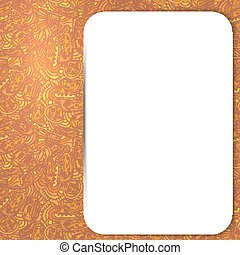 Seamless ornament in yellow with tribal style white field for th
