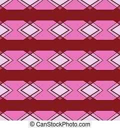 Seamless ornament. Pink color