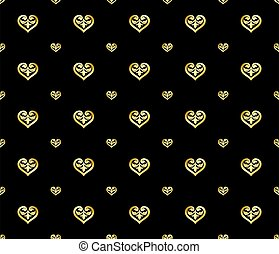 Seamless Ornament Style Luxury Gold Heart Shaped Pattern