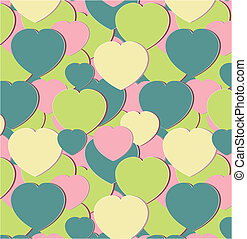seamless ornament with hearts