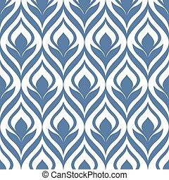 seamless, ornamental, padrão