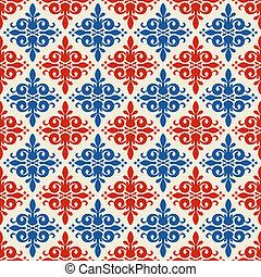 seamless, ornamental, patrón