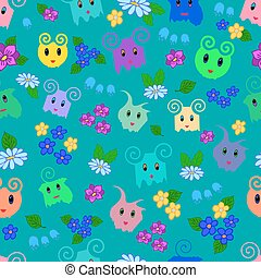 Seamless ornamental pattern for kids