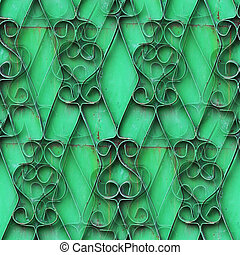 seamless ornamental wrought iron green wall grunge fabric abstract texture wallpaper