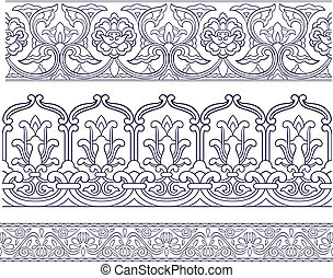 seamless ornate element border