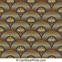 Seamless ornate golden pattern