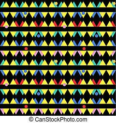 seamless, ouderwetse , abstract, model, met, driehoeken, in, de, stijl, van, 80's., mode, achtergrond, in, memphis.
