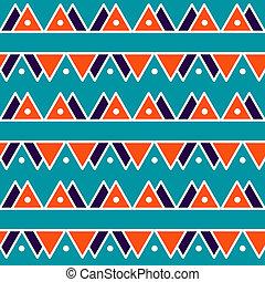 seamless, ouderwetse , abstract, model, met, driehoeken, in, de, stijl, van, 80's., mode, achtergrond, in, memphis, style.
