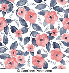 seamless, ouderwetse , floral, achtergrond