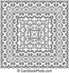 Seamless outline floral pattern - Seamless floral pattern,...