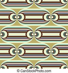seamless oval slide pattern - groovy horizontal pattern