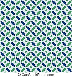 Seamless overlapping circle pattern in vector format