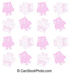 seamless owl pattern background