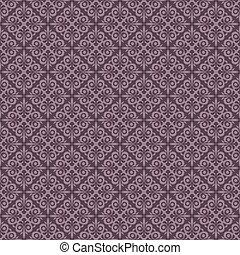 seamless, púrpura, vendimia, vector, papel pintado, pattern.