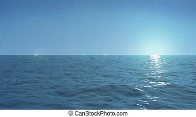 seamless, pętla, ocean