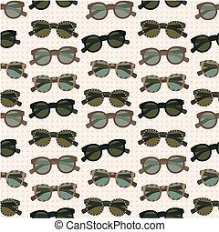 seamless, padrão, óculos de sol