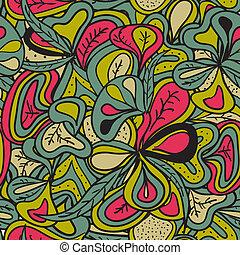 seamless, padrão, abstratos, hand-draw