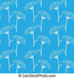 seamless, padrão, com, chrysanthemums