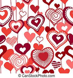 seamless, padrão, com, corações