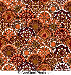 seamless, padrão, com, elementos florais