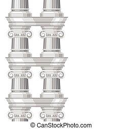 seamless, padrão, com, ionic, antigüidade, grego, colonnade