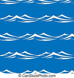 seamless, padrão, com, mar, ondas