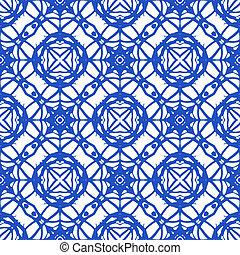 seamless, padrão, com, mediterrâneo, arabescos