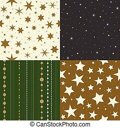 seamless, padrão, estrela