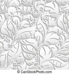 seamless, padrão floral, com, sombra