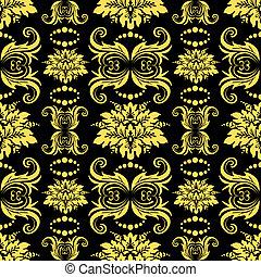 seamless, padrão floral, (vector)