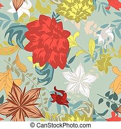 seamless, padrão floral