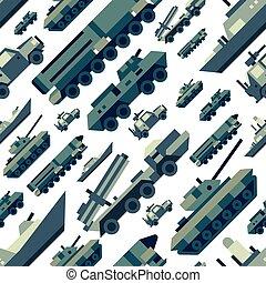 seamless, padrão, machines., militar