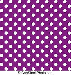 seamless, padrão, pontos polka, grande