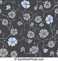 seamless, padrão, renascimento, floral