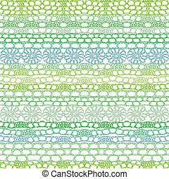 seamless, padrão, renda, crochet