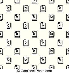seamless, padrão, vetorial, livro, torah