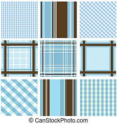 seamless, padrões, com, tecido, textu