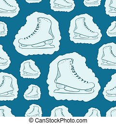 Seamless painted skates contours