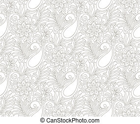 Seamless paisley background - Seamless paisley wedding card...