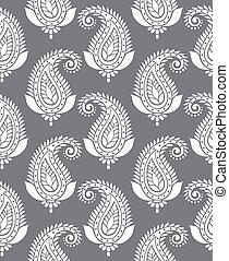 Seamless paisley for textile design
